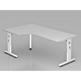 Büro Schreibtisch 200x120 cm Winkelform Modell OS82 höheneinstellbar