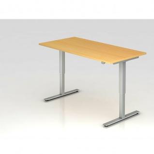 Büro Schreibtisch Stehtisch höhenverstellbar 160x80 cm Modell XMST16 mit Tast-Schalter