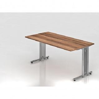 Büro Schreibtisch 160x80 cm Modell NS16C mit Chromfüßen