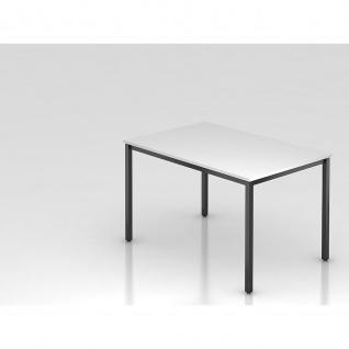 Konferenztisch Meeting D Modell DQ 12 Gestell schwarz Tischfuß eckig