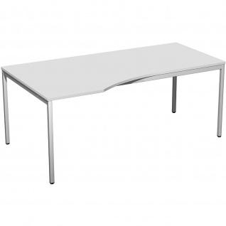 Gera Freiform Schreibtisch Bürotisch 4 Fuß Eco links 1800x800/1000x720mm versch. Dekore
