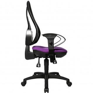 Topstar Bürodrehstuhl Open Point SY lila mit Netzrücken schwarz