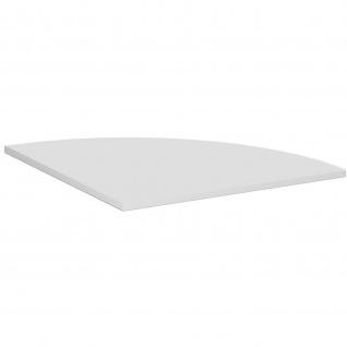 Gera Verkettungsplatte Viertelkreis 90° für Schreibtisch Bürotisch 4 Fuß Eco 800x800mm