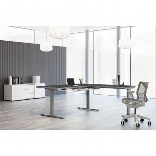 Kerkmann Schreibtisch Sitz-Stehtisch Move 3 Premium 200x100x72-121cm inkl. Anbautisch 120x80cm elektr. höhenverstellbar mit Memoryfunktion