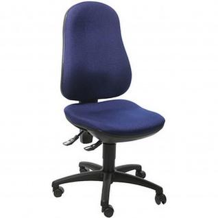 Bürodrehstuhl Point 70 Spezial-Bandscheibensitz mit Beckenstütze, royalblau