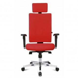 Design Bürodrehstuhl Lightstar 30 Alu-Fußkreuz Sitztiefenverstellung Kopfstütze Armlehnen