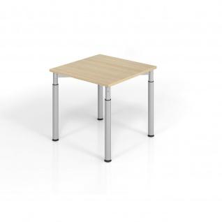 Büro Schreibtisch 80x80 cm Modell YS08 mechanische Höheneinstellung