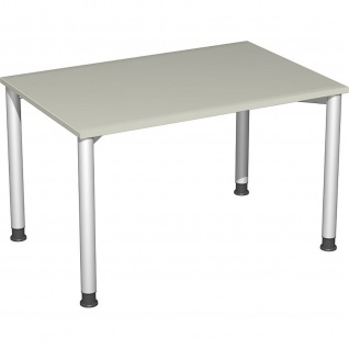Gera Schreibtisch Bürotisch 4 Fuß Flex höhenverstellbar 1200x800x680-800 mm ahorn buche lichtgrau weiß
