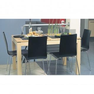 Bistrostuhl Besucherstuhl Cafe VII CFS ROD Kufengestell verchromt Buchenschichtholz