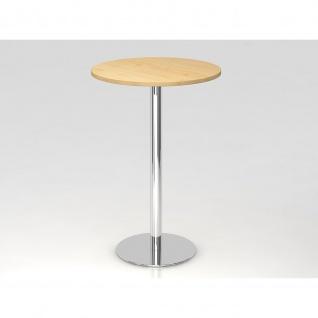 Bistro Tisch Stehtisch Besprechungstisch 08 chrom 80 cm Durchmesser