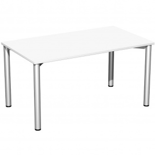 Gera Schreibtisch Bürotisch 4 Fuß Flex 1400x800mm verschied. Dekore