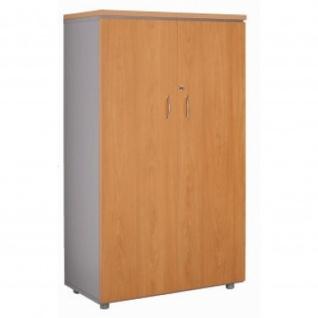 Büroschrank Ablageschrank 134 cm 2 große Türen 3 Fachböden