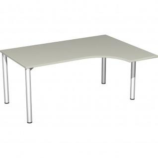 Gera PC-Schreibtisch Bürotisch 4 Fuß Flex rechts 1600x800/1200mm verschied.Dekore