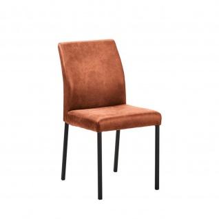 Edler Design Stuhl Esszimmerstuhl Barile 1 Stoff Gestell schwarz