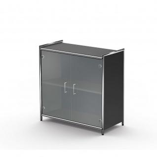 Kerkmann 7989 Sideboard Regal Artline breit mit Vorbautüren Glas 2 OH 80x38x78 cm