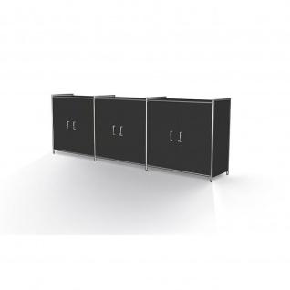 Kerkmann 7917 Sideboard Regal Artline breit mit Vorbautürenpaar 236x38x78 cm 2 OH