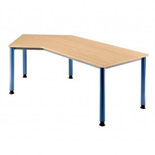 Büro Schreibtisch 210x113 cm Winkelform Modell HS21