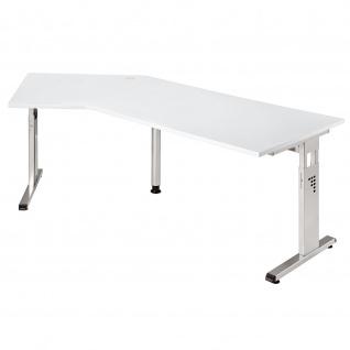 Büro Schreibtisch 210x113 cm Winkelform Modell OS21 höheneinstellbar