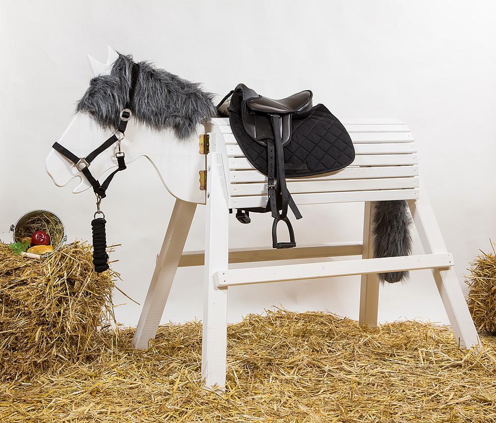 holzpferd mäxchen 90 cm spielpferd voltigierpferd - kaufen bei dein