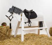 Holzpferd Mäxchen 90 cm Spielpferd Voltigierpferd