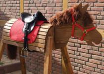 Holzpferd Mona 115 cm Spielpferd Voltigierpferd
