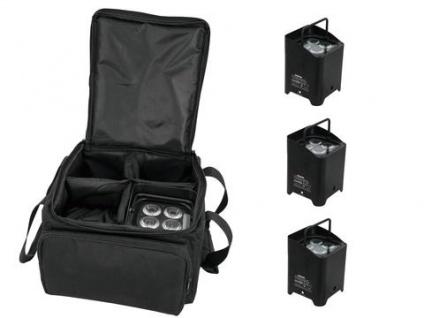 EUROLITE Set 4x AKKU UP-4 QCL Spot WDMX + SB-4 Soft-Bag