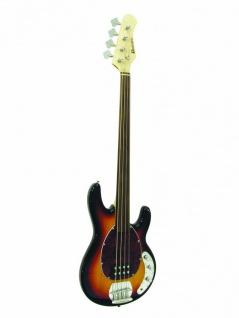 DIMAVERY MM-501 E-Bass, fretless, tobacco