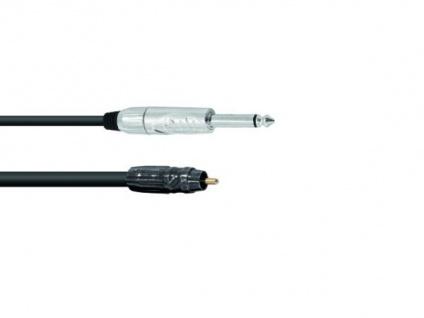 OMNITRONIC Adapterkabel Cinch/Klinke 0, 9m sw