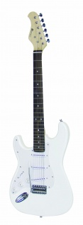 DIMAVERY ST-203 E-Gitarre LH, weiß