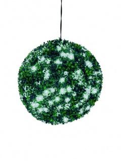 EUROPALMS Buchsbaumkugel mit weißen LEDs, künstlich, 40cm