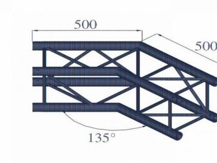 Alutruss Quadlock 6082c-23 2-wege-ecke 135° - Vorschau 2