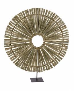 Metallaufsteller Ornament rund, Gras, Ø42/H48cm