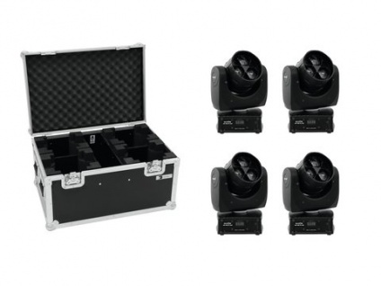 EUROLITE Set 4x LED TMH FE-300 Beam/Flowereffekt + Case