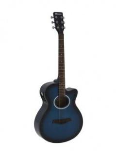 DIMAVERY AW-400 Westerngitarre, blueburst