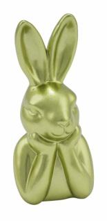Keramikhasenkopf, grün / metallic