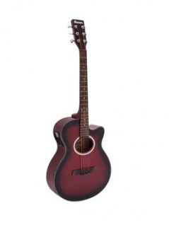 DIMAVERY AW-400 Westerngitarre, redburst