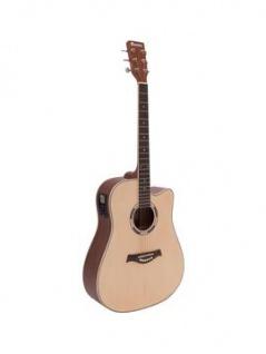 DIMAVERY JK-500 Westerngitarre, Cutaway, natur