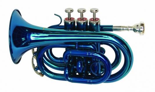 DIMAVERY TP-300 B-Pocket-Trompete, blau