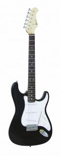 DIMAVERY ST-203 E-Gitarre, schwarz