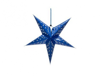 EUROPALMS Stern Laterne, Papier, blau, 50 cm