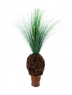 EUROPALMS Graspalme mit Knollenstamm, Kunstpflanze, 90cm