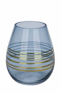 Glaswindlicht, anthrazit, Ø 10cm / Höhe: 10cm