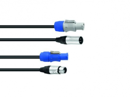 SOMMER CABLE Kombikabel DMX PowerCon/XLR 5m