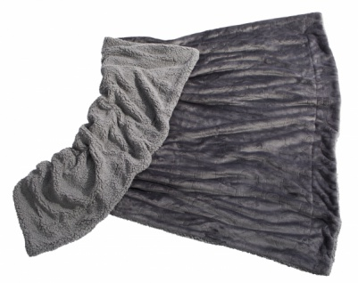 Premium Kuscheldecke Farbe: grau Rautenprägung 130 x 180cm