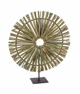 Metallaufsteller, Ornament rund, Gras, Ø32 / H37cm
