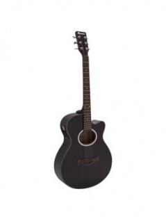DIMAVERY AW-400 Westerngitarre, schwarz