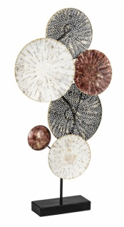 Dekoelement auf Sockel rosa, weiß, 37, 5 x 65, 4 x 7, 6 cm