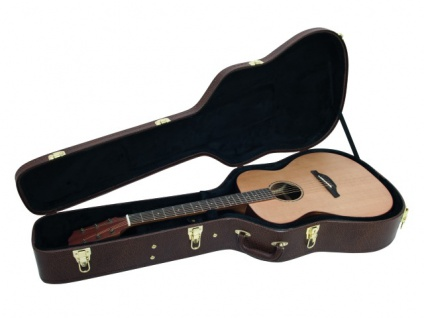 DIMAVERY Form-Case Western-Gitarre, braun