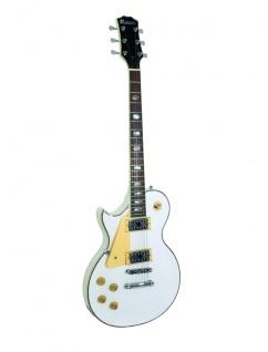 DIMAVERY LP-700L E-Gitarre, LH, weiß