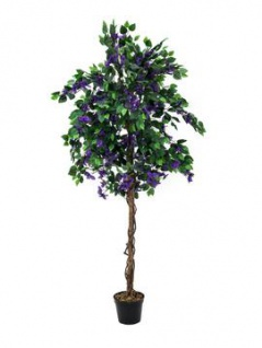 EUROPALMS Bougainvillea, lavendel, Kunstpflanze, 150cm